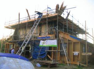 Huis Jan Maas in aanbouw
